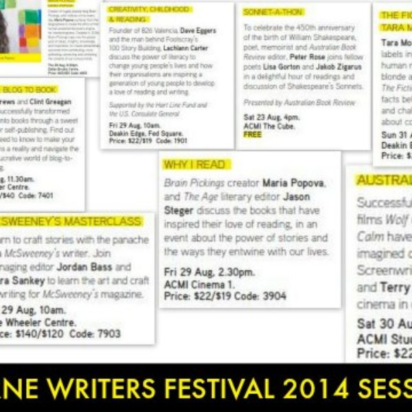 Melbourne Writers Festival 2014 Session Picks