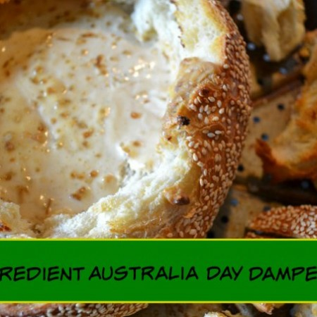 3 ingredient australia day damper dip