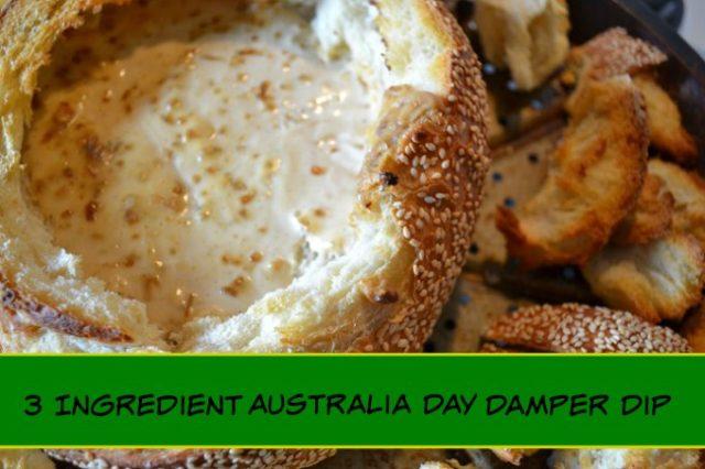 3 ingredient australia day damper dip