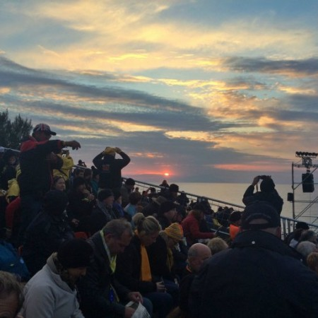 Sunset on the evening before ANZAC DAY