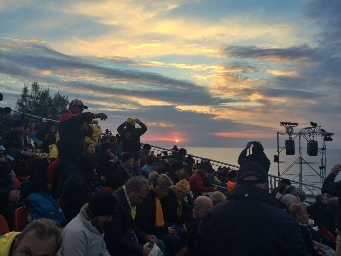 sunset before anzac day