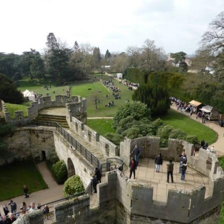 warwick castle battlement