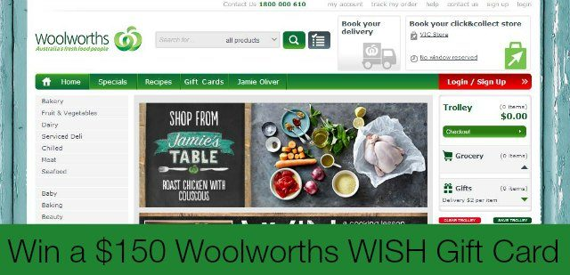 woolworths gift card giveaway