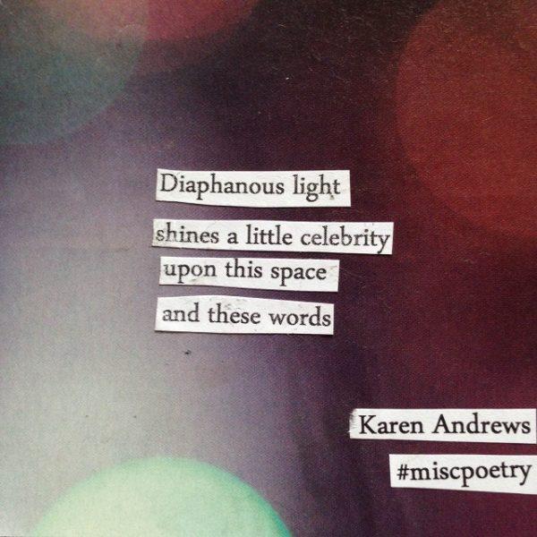 diaphanous light