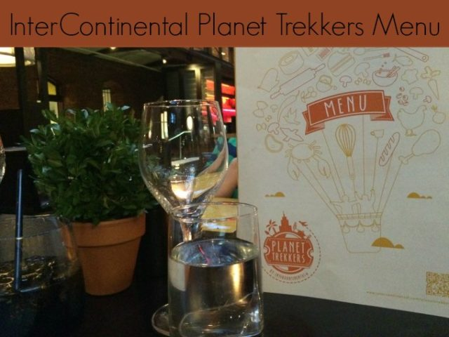 InterContinental Planet Trekkers Menu