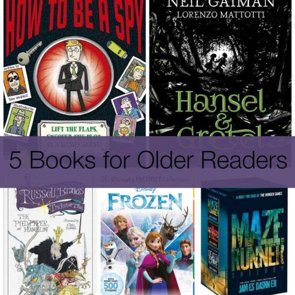 5 books for Older Readers For Christmas