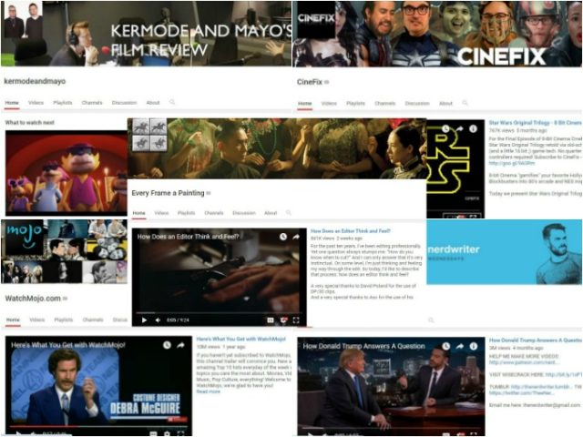 5 Youtube channels about movies