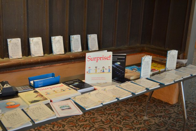book launch table