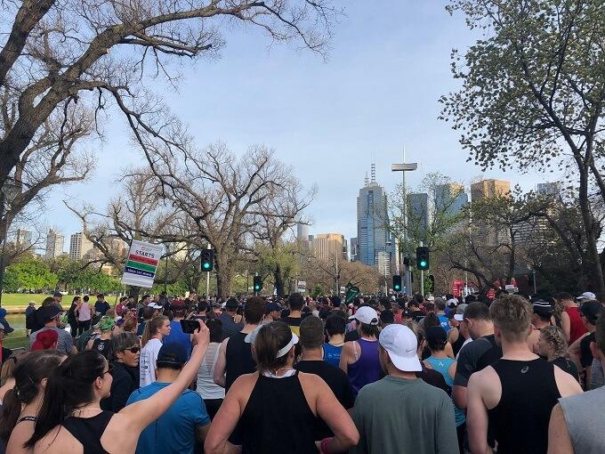 Starting line 2019 Melbourne Marathon